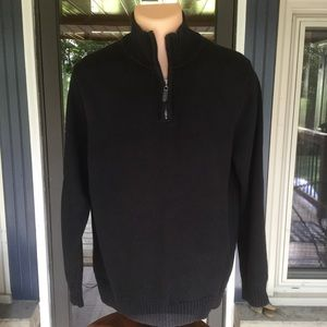 Men's LL Bean Double L 1/4 Zip Sweater Size L
